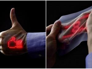 Oto wyświetlacz naklejany na skórę. Dzięki niemu będziemy mogli monitorować swoje zdrowie i… wysyłać wiadomości