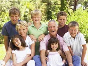 rodzina, dzieci, rodzice, dziadkowie