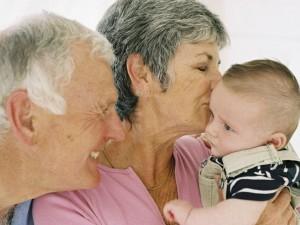 dziadkowie, dziecko