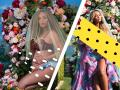 Beyonce po raz kolejny w stylizacji à la Matka Boska. W ten sposób pokazała dzieci