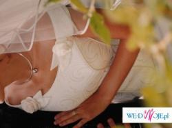 2-częściowa suknia ślubna w kolorze bardzo jasne ecru