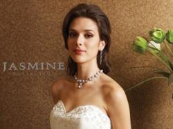 80% *TANIEJ   Śliczna Suknia Ślubna Jasmine F208 Biala Rozmiar 36-38