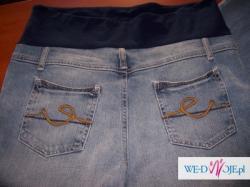 9monate NOWE markowe spodnie ciążowe z pasem 38 długie