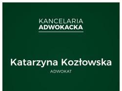 Adwokat Katarzyna Kozłowska Łódź