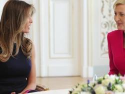 Agata Duda po spotkaniu z Melanią Trump! Jak prezentowały się obie panie?