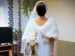 Agora - suknia ślubna retro - śmietankowa biel - GRATISY