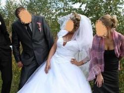Angielska piękna suknia ślubna