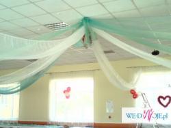 artykuły dekoracyjne na salę weselną