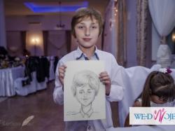 Artysta na Twoim weselu. Rysownik wykona śmieszne portreciki Twoim gościom.