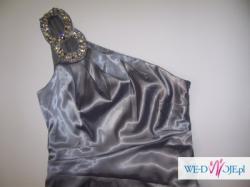 Asymetryczna maxi sukienka wieczorowa 36 NOWA
