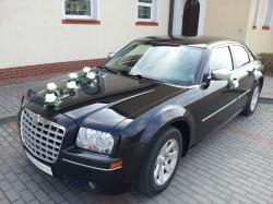 Auta do ślubu - Chrysler 300C biały i czarny