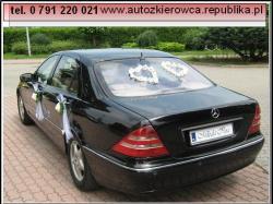 Auto do ślubu, luksusowy samochód z kierowcą - Mercedes S.