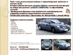 Auto do Ślubu - piękna limuzyna LANCIA THESIS