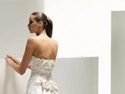 Bajeczna, jedwabna suknia ślubna - Manuel Mota (Promovias) Scarlet model 2009