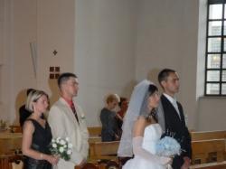Bajeczna suknia ślubna Demetrios-dużo dodatków gratis!