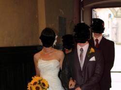 bajeczna suknia ślubna z tafty