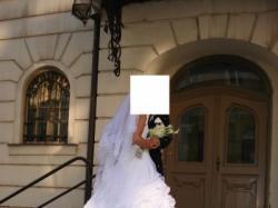 Bajeczna Suknia Ślubna z Trenem