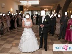 BAJKA Suknia ślubna 38 ramiączko odpinane GLAMOUR
