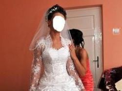 Bajkowa suknia ślubna 1300zł.