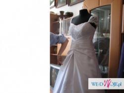 Bajkowa suknia ślubna 38-40-42 dla wysokiej, piękna! + dodatki