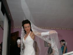 Bajkowa suknia ślubna, biała