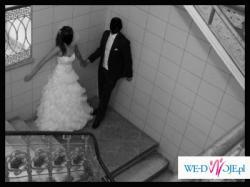 Bajkowa suknia ślubna + dodatki