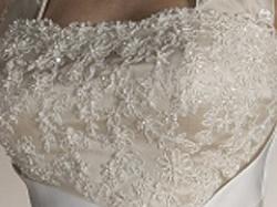 Bajkowa suknia ślubna - ecru i cappuccino.