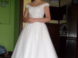 Bajkowa suknia ślubna roz.38 TANIO + Gratisy