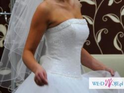 bajkowa suknia ślubna rozmiar 36,38 , piękna!!!!!!! możliwość wypożyczenia