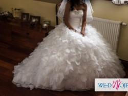 Bajkowa suknia ślubna z kolekcji2012 Mori Lee1666 rozm.34/36