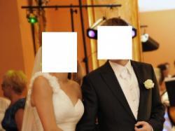 Bardzo elegancka i stylowa  kamizelka ślubna z musznikiem i butonierką