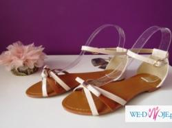 beżowo brązowe sandały lakierek nude 38