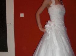 biała jednoczęściowa suknia ślubna roz 36/38 grudziądz
