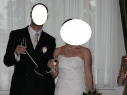 Biała koronkowa suknia ślubna rozm. 38-40