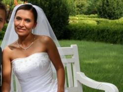 Biała suknia 34/36 +6/8 cm obcas, kolekcja Emmi 2007 Model Gulietta