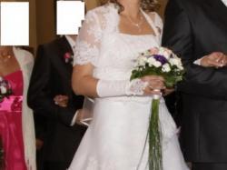 biała suknia dla wysokiej