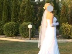 Biała suknia Gandi FLOSSMANN 36/38 rybka syrenka stan idealny