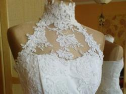 biala suknia gorset+spodnica
