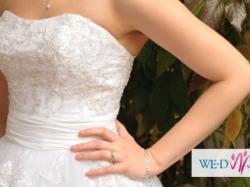 Biała Suknia Herms Barbielle stan idealny roz. 34