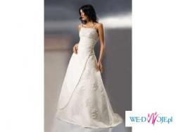 Biała suknia ślubna Agnes 38/40 + gratisy