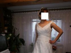 Biała suknia ślubna  Herms 38/40 wzrost 170 +6