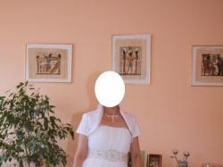 Biała suknia ślubna idealna na lato, model SERENA z MsModa