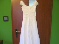 biała suknia ślubna Julia Rosa 818a 34/36, tren, zamek, gratis