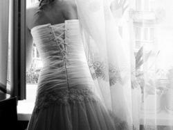 Biała suknia ślubna lekka 34 - 36 + bolerko + welon + rękawiczki