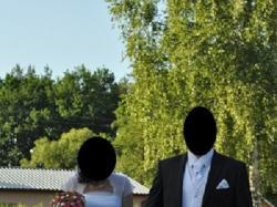 Biała suknia ślubna Papilio 1125 z falbanami