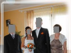 Biała suknia ślubna, r. 34-36, dodatki dla Pana Młodego, okazja!!!
