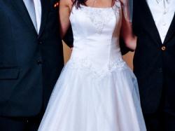 biała Suknia Ślubna, rozmiar 36