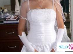 Biała suknia ślubna rozmiar 38 - 650zł