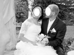 Biała suknia ślubna Vanessa 1219  roz 38+dodatki na 170cm falbany