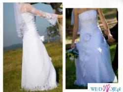biała suknia ślubna + welon